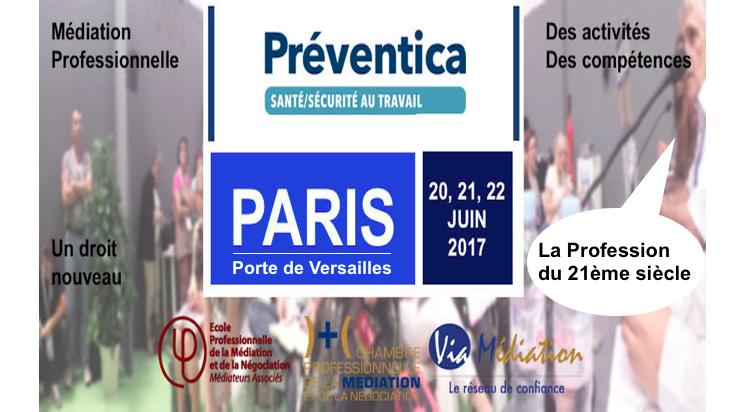 Préventica à Paris, Porte de Versailles, avec les médiateurs professionnels